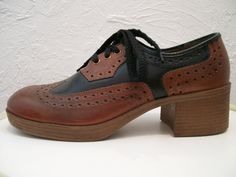 mens two tone spectator oxford platform shoes Mens Platform Shoes, Oxford Platform, Oxford Shoes, Vintage Clothing, Vintage Items, Vintage Outfits, Vintage Fashion, Hippie Culture, Teenage Years