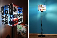 Cassette is Not Dead Features Upcycled Tapes as Lighting