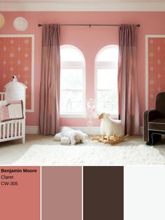This muted pink echoes the 18th century practice of mixing white and red iron oxide pigments to create a pinkish hue.