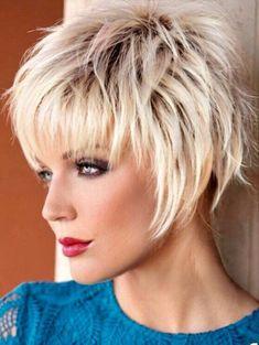 - # Frisuren - New Ideas - Short Hair Cuts For Women - Short Thin Hair, Short Hair With Layers, Short Hair Cuts For Women, Choppy Short Hair Cuts, Short Stacked Hair, Shaggy Short Hair, Funky Short Hair, Edgy Hair, Long Pixie