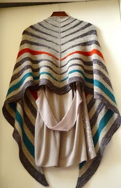 Pterotactyl pattern by Marc Smollin. Stockinette stripes + short-row garter wedge stripes.