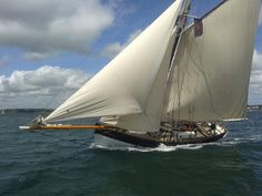Amelie Rose pictured racing at the Classic Sailing St Mawes Pilot Cutter Championships
