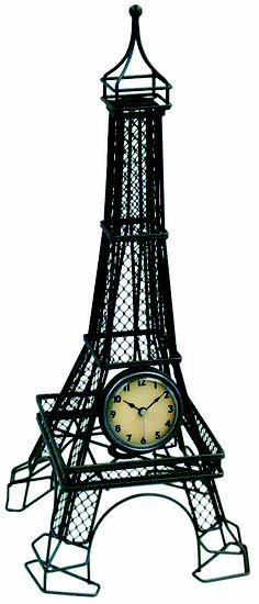 Infinity Instruments version of the Eiffel Tower #decor #tabletop #Eiffel #clock