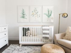 See our design predictions for #BabyGaines' crib (literally). Sweet soothing nursery.