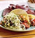 Dinner Tonight: Healthy Flank Steak Soft Tacos (and Good News on Red Meat--It's Not So Bad After All!)