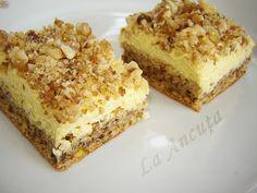 Prajitura Suzette – La Ancuta Austrian Recipes, Serbian Recipes, Romanian Recipes, Romanian Desserts, Romanian Food, Vegan Desserts, Dessert Recipes, Arabic Food, Creative Food