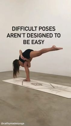 Challenging Yoga Poses, Advanced Yoga Poses, Cool Yoga Poses, Fitness Goals, Yoga Fitness, Fitness Tips, Fitness Motivation, Gym Workout Tips, Workout Videos
