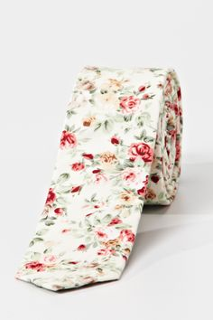 Preppy Floral Tie - Cream | Ties and Bowties | Roger David | Roger David.