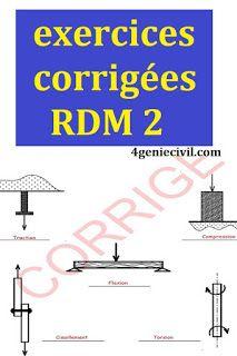 Exercices Corriges Rdm 2 Genie Civil Pdf Genie Civil Exercice Lecture De Plan