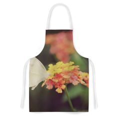 Kess InHouse Robin Dickinson 'Captivating' Orange Flower Artistic Apron