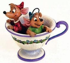 "*JAQ & GUS ~ Cinderella....""Tea For Two""-Disney Collectibles-Jim Shore Disney Traditons"