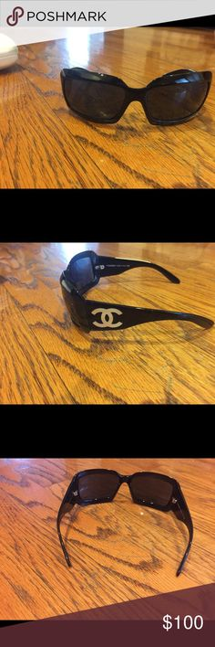 CHANEL sunglasses 😎 Style 5076-H Mother of Pearl These limited edition Chanel sunglasses are classics and with the Mother of Pearl trim, why wouldn't you not want to add these to your closet! 🚫 Trades CHANEL Accessories Sunglasses