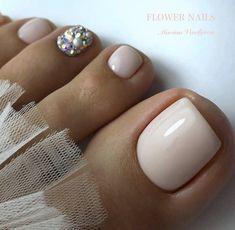 Pretty Toe Nails, Cute Toe Nails, Fancy Nails, Simple Toe Nails, Gel Toe Nails, Feet Nails, Gel Toes, Acrylic Toes, Best Acrylic Nails