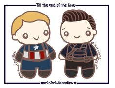 Little Steve and Bucky. Till the end of the line