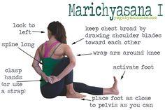 How to do Marichyasana I. Pin it!