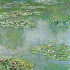 クロード・モネ 《睡蓮》 1907年 油彩、カンヴァス 93.3 x 89.2cm ポーラ美術館