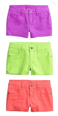 Fab flavors of sweet summer style start with our cool colored shorts.