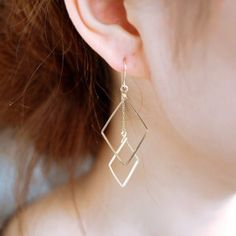 To know more about ピアス, visit Sumally, a social network that gathers together all the wanted things in the world! Simple Earrings, Simple Jewelry, Diy Earrings, Beautiful Earrings, Fashion Earrings, Earrings Handmade, Handmade Jewelry, Diamond Earrings, Wire Jewelry