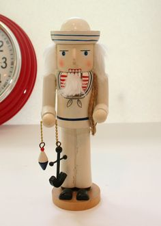 NUTCRACKER~Nautical Nutcracker - Red, White Blue on Etsy, $12.00