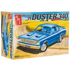 Collectible Plastic Model Kit: 1971 Plymouth Duster 340 Model Kit - Welcome To Muncle Mikes Model Cars Kits, Kit Cars, Diy Projects Videos, Fun Projects, Plastic Model Kits, Plastic Models, Balsa Wood Models, Plymouth Duster, Model Train Layouts