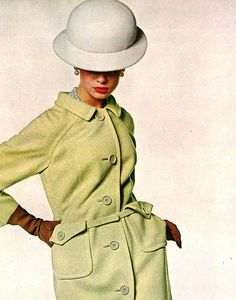 Model Jean Shrimpton is wearing a creation Originala and photographed by Bert…