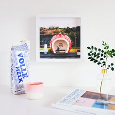 Strawberry Bus Stop Print - Hello Sandwich