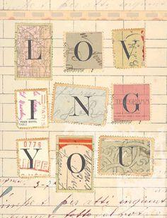 Loving You vintage collage