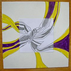 Fine Lines: 5th Grade Abstract Results - Observation drawings leading into abstract design. Great idea!