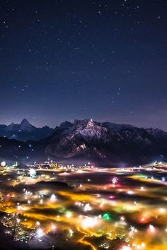 Berchtesgaden by night, Bavaria, Germany, by Mirko Fikentscher, on Places Around The World, Oh The Places You'll Go, Places To Visit, Around The Worlds, Beautiful Photos Of Nature, Nature Photos, Beautiful Places, Amazing Places, Cool Pictures