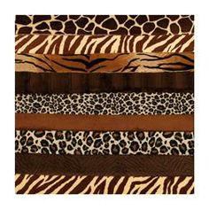 Cuddle Strip Quilt Adult Kit w/Pattern Animal Brown
