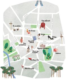 El mapa de los mercadillos