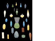 Faience beads from Egypt, sold at auction (tsk tsk) in London in 2010