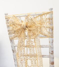 Our Gold foiled metallic swirl design sash will catch the eye of everyone. Available in sashes, hoods + runners..