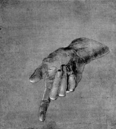 Albrecht Dürer ~ Right Hand of an Apostle (Study for 'Heller Altarpiece'), 1508