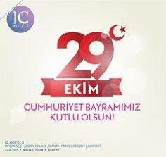 We present our deepest thanks to Great Leader Mustafa Kemal Atatürk and all our ancestry. We wish a Happy Republic Day. Cumhuriyetimizin kurucusu Ulu Önder Gazi Mustafa Kemal Atatürk ve silah arkadaşları başta olmak üzere Aziz şehitlerimize şükranlarımızı sunuyoruz. Cumhuriyet Bayramımız kutlu olsun.  #ichotelslife  www.ichotels.com.tr