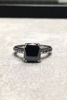 Unique Black Diamond Engagement Rings ★ See more: https://ohsoperfectproposal.com/black-diamond-engagement-rings/ #nails #diamondjewelry