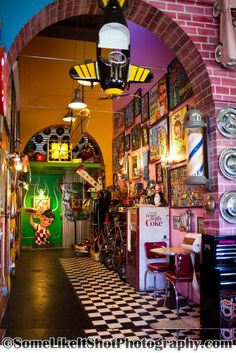 samanthazxm:    Seths Chop Shop in Ocean Beach, CA (San Diego) This shop interior is really cool and Seth is a cool guy.  Hair Salon/Tattoo Shop
