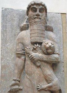 Detalle del relieve de Gilgamesh en el palacio de Jorsabad, VIII aC