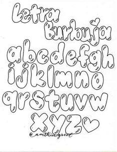 Fancy Fonts Alphabet, Bubble Letters Alphabet, Bubble Letter Fonts, Hand Lettering Alphabet, Fancy Letters, Tattoo Lettering Fonts, Doodle Lettering, Graffiti Lettering, Brush Lettering