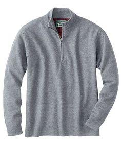 Izod Men/'s Half Zip Long Sleeve Pullover.Blk.X-Large.