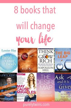 8 Books That Will Totally Change Your Mindset and Life - Need some inspiration? Want to adjust your mindset? Catch yourself going back to old habits and not moving forward in life? Best Books To Read, Good Books, My Books, Best Self Help Books, Books You Should Read, Reading Lists, Book Lists, Book Club List, Inspirational Books To Read