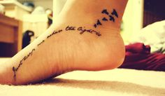 "#Foot tattoo  ""Just keep me where the light is"""