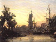 Johan Barthold Jongkind - Port de Rotterdam (1857)