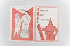 Het Kleurloze Kerst Kleurboek.  The Colorless Christmas Coloringbook. Cover by Studio De Leijer.  Risograph printed.