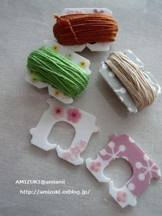 bread tag - Keep pieces of thread and twine neat and tidy.