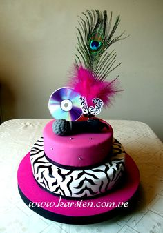 Torta Musical Animal Print