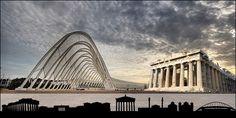 Κτίρια-σύμβολα της Αθήνας Opera House, Louvre, Building, Travel, Viajes, Buildings, Destinations, Traveling, Trips