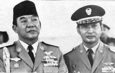 President Soekarno with his successor General Soeharto, 1967