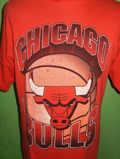 Vintage Red T Shirt Chicago Bulls from Logo 7 Inc. by OldTimeTees, $29.99
