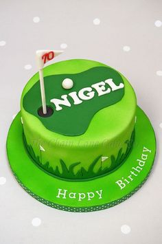 simple golf cake More